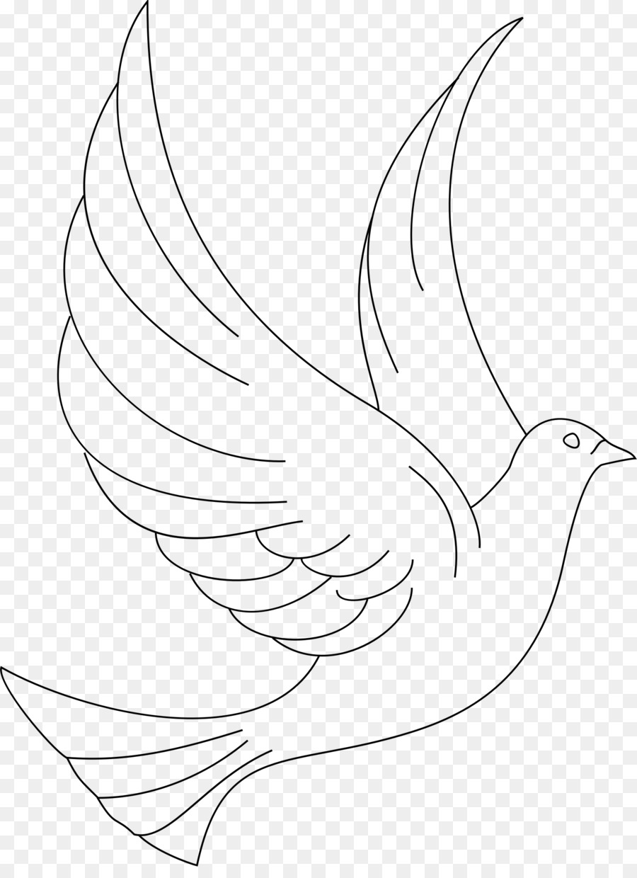 Dove clipart lineart.