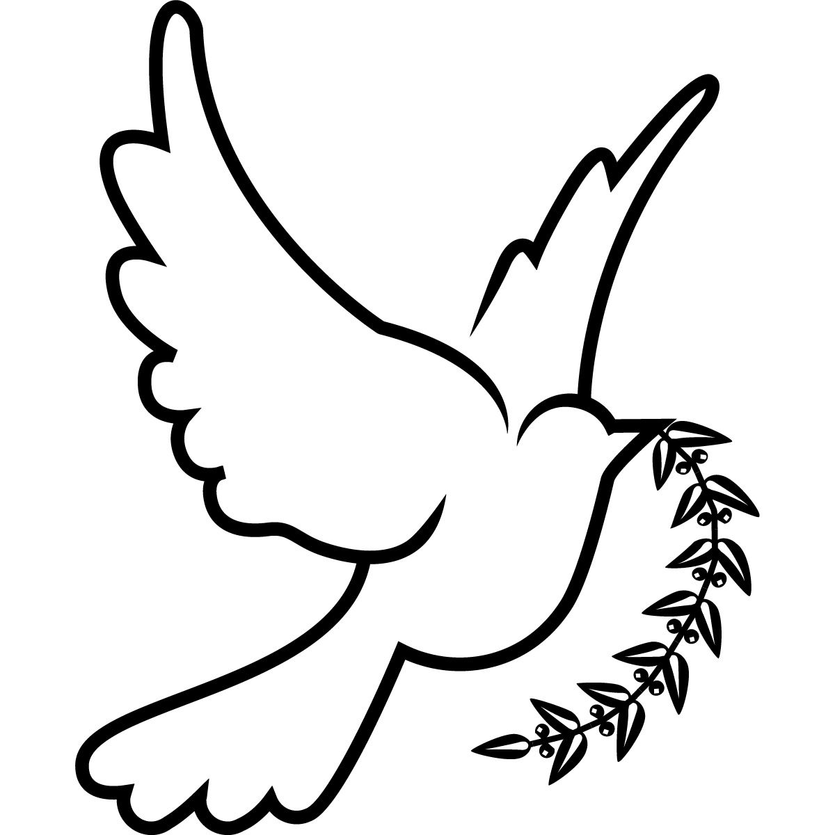 Dove clipart drawing.