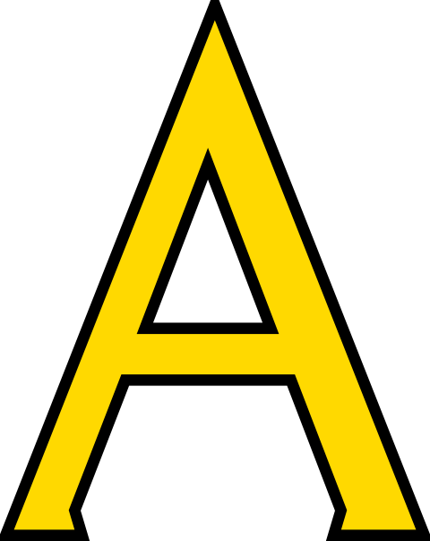 letter a clipart
