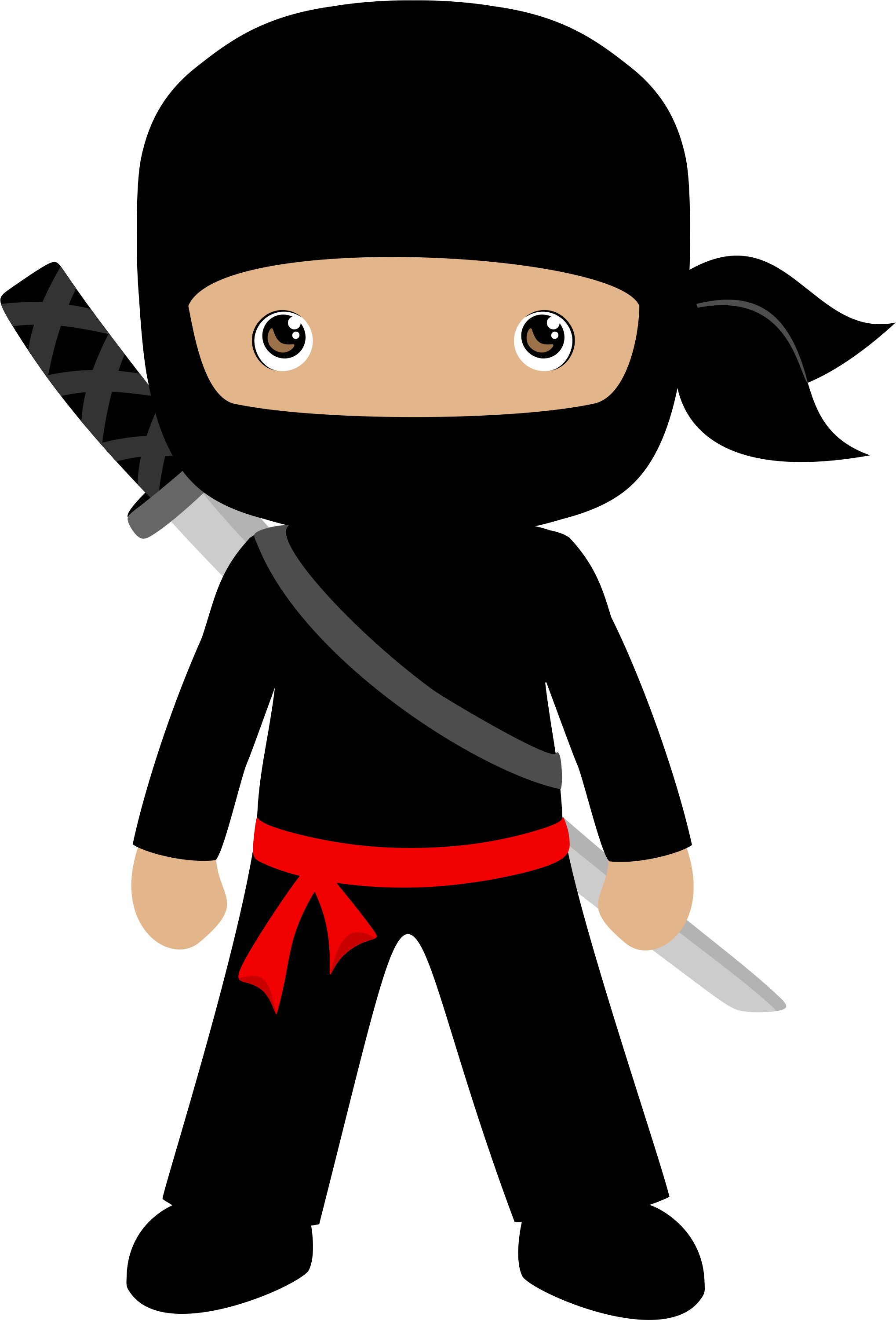 ninja clipart simple