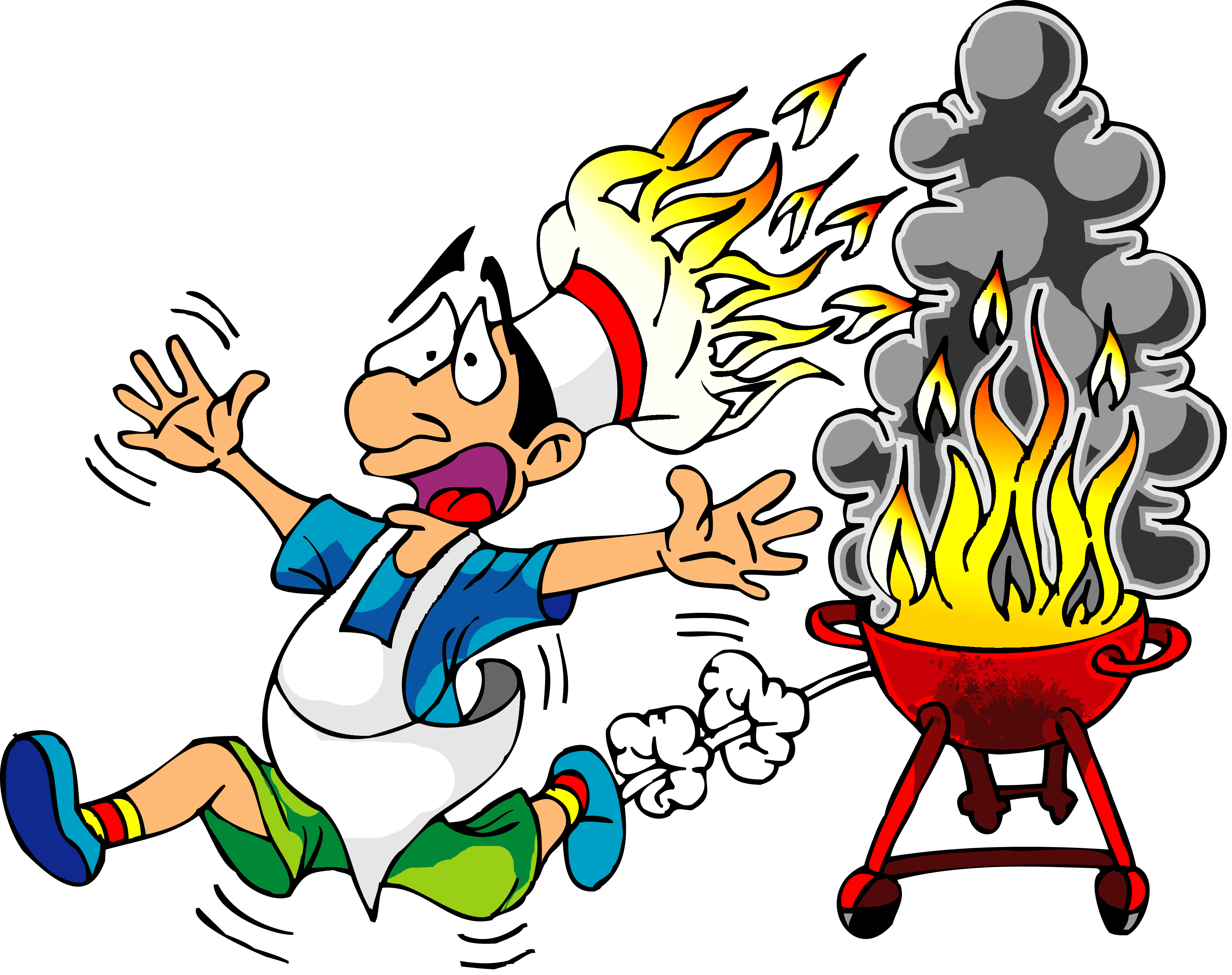 bbq clipart people