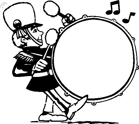 marching band clipart drumline
