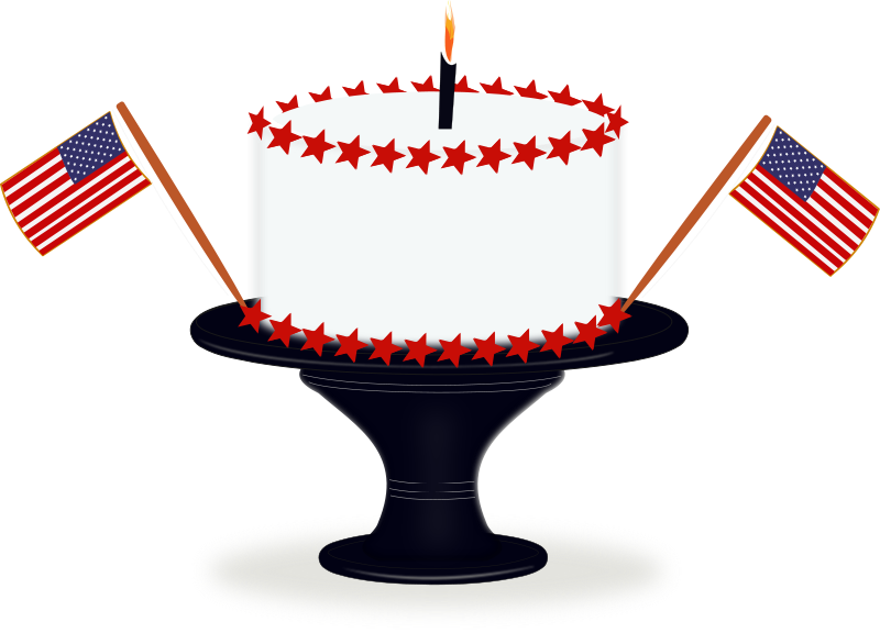 july clipart cake