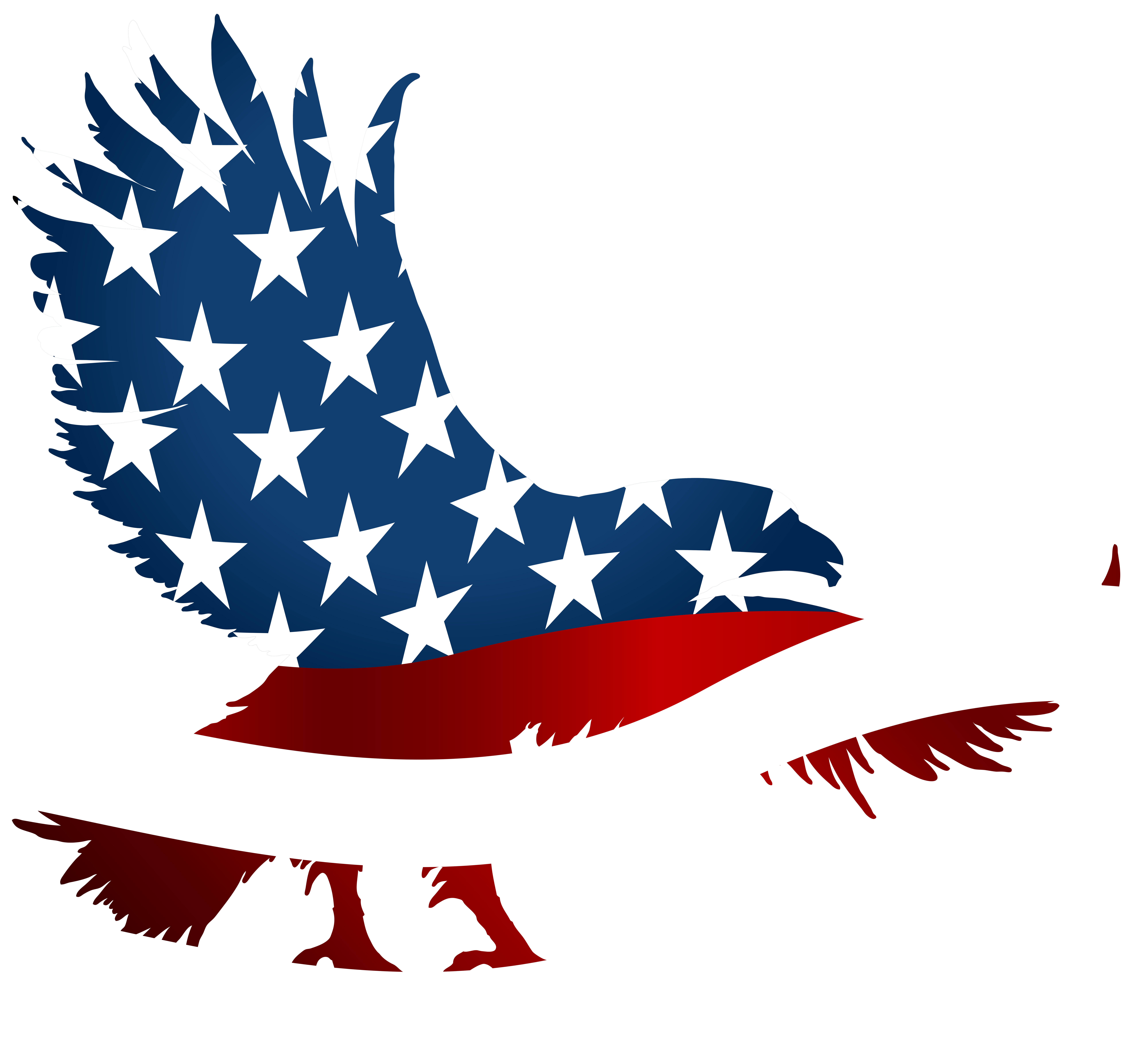 Eagle clipart banner.