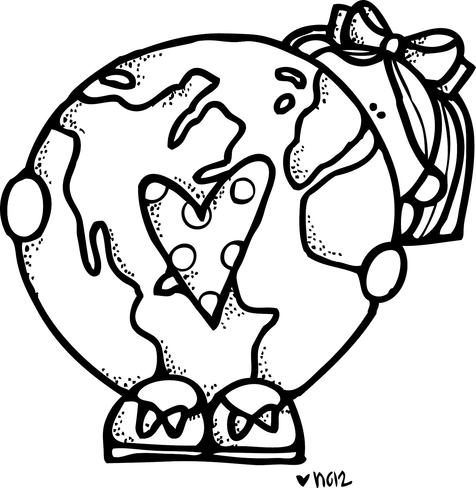 earth day clipart coloring page