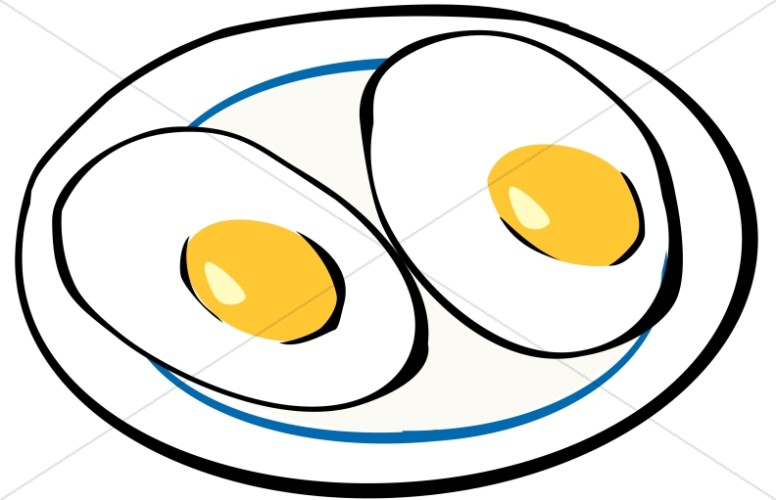 eggs clipart sunny side up