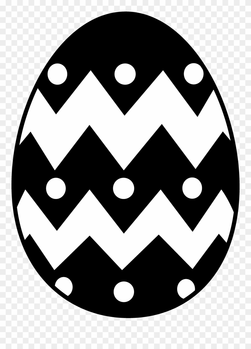 easter black and white clipart vector