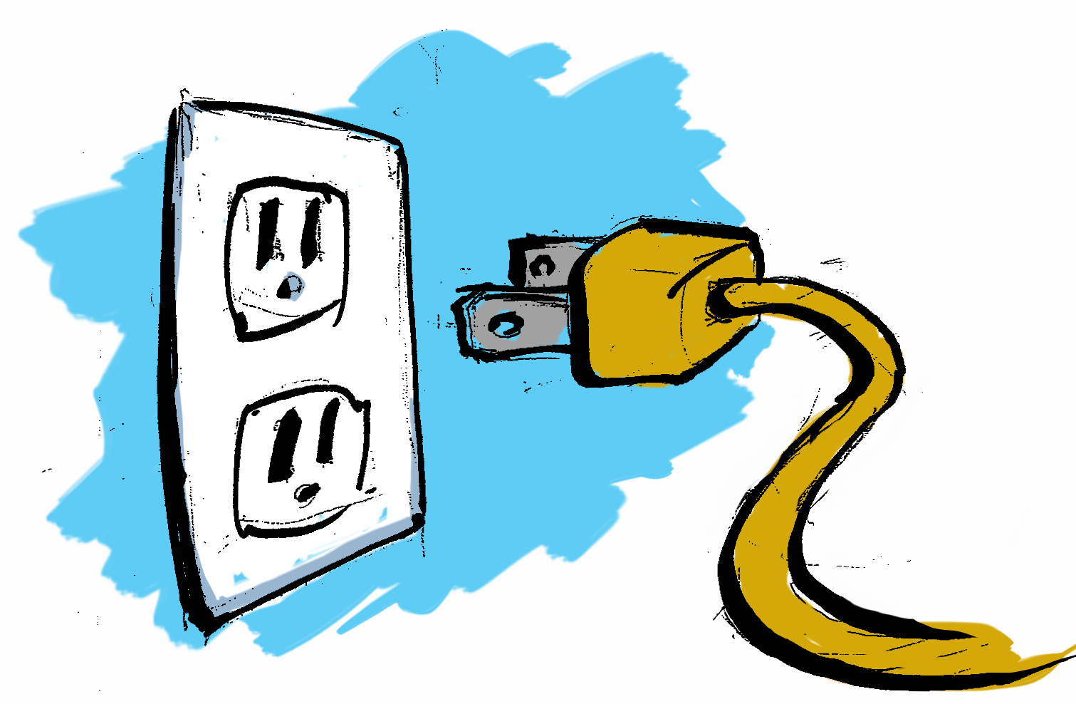 Motorized clipart electrical installation.