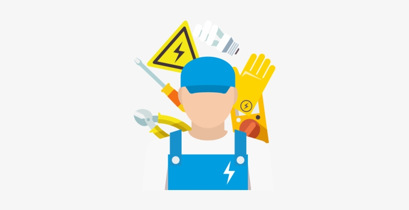 Motorized clipart electrician.