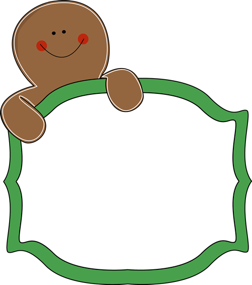 gingerbread clipart blank
