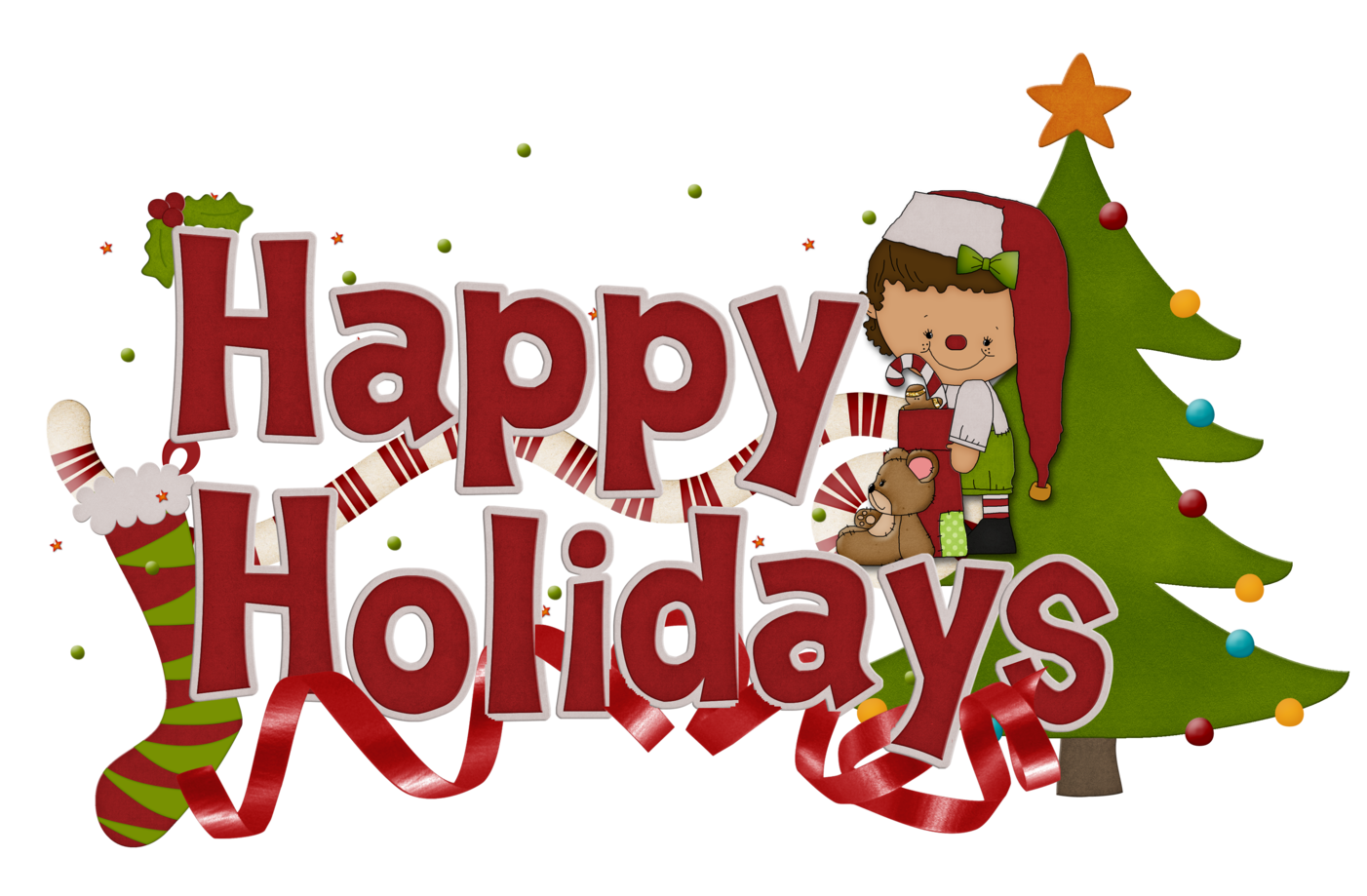 happy holidays clipart vertical