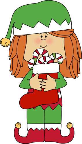 elf clipart candy cane