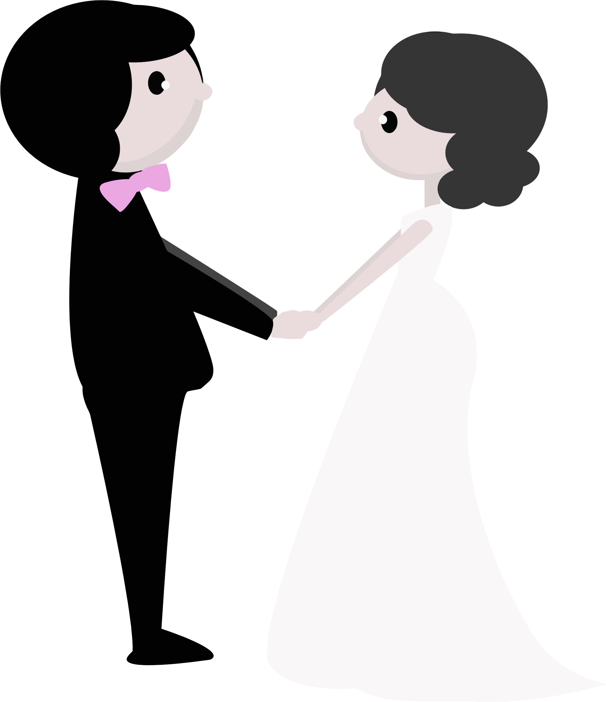 bride and groom clipart couple