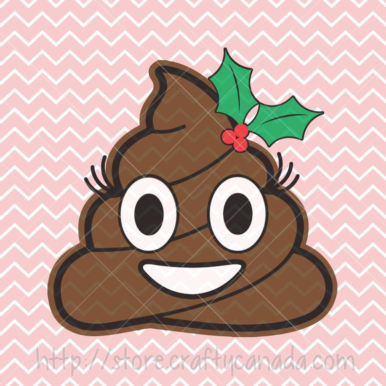 poop clipart christmas