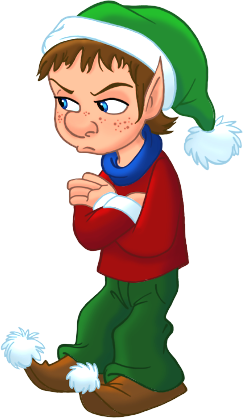 elves clipart sad