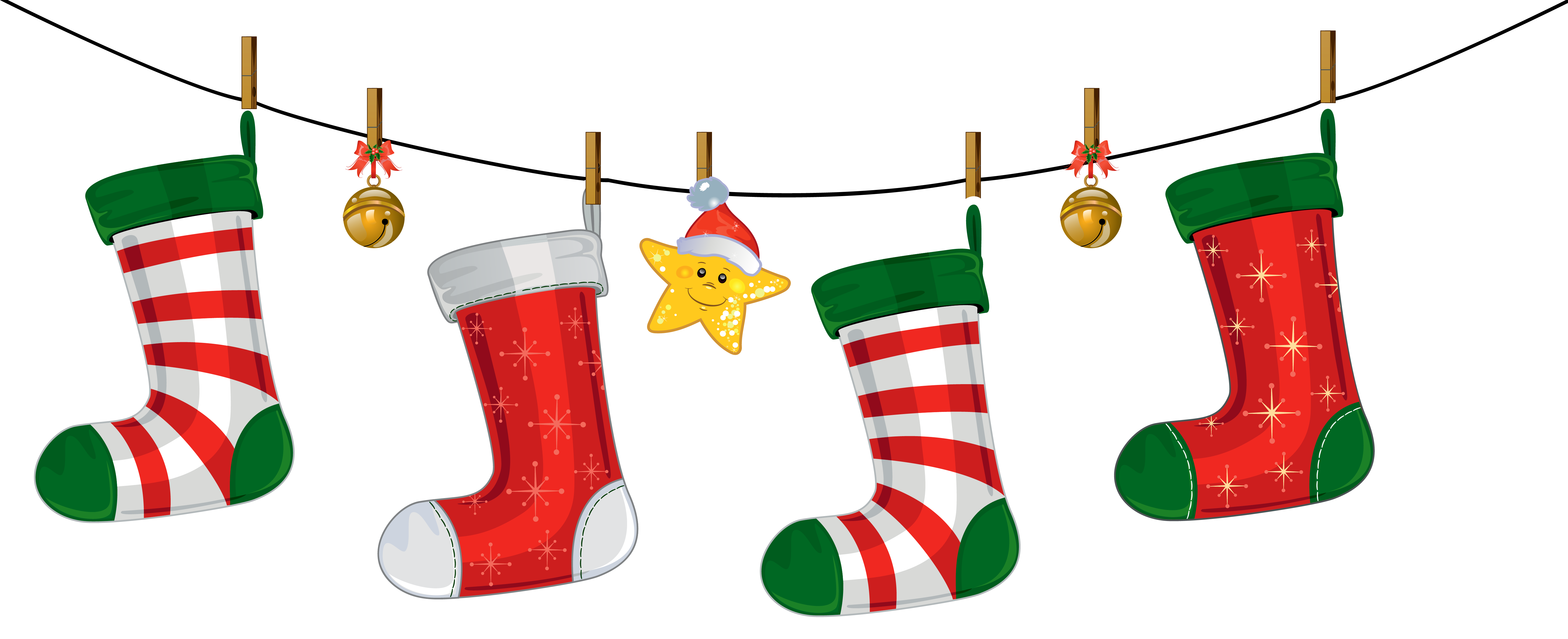 christmas stocking clipart transparent background