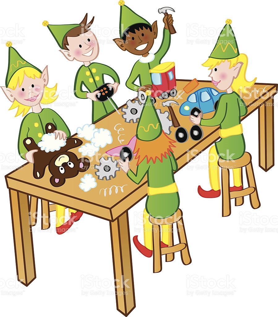 Elves clipart working.