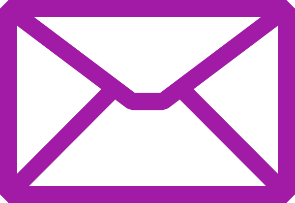 email clipart purple
