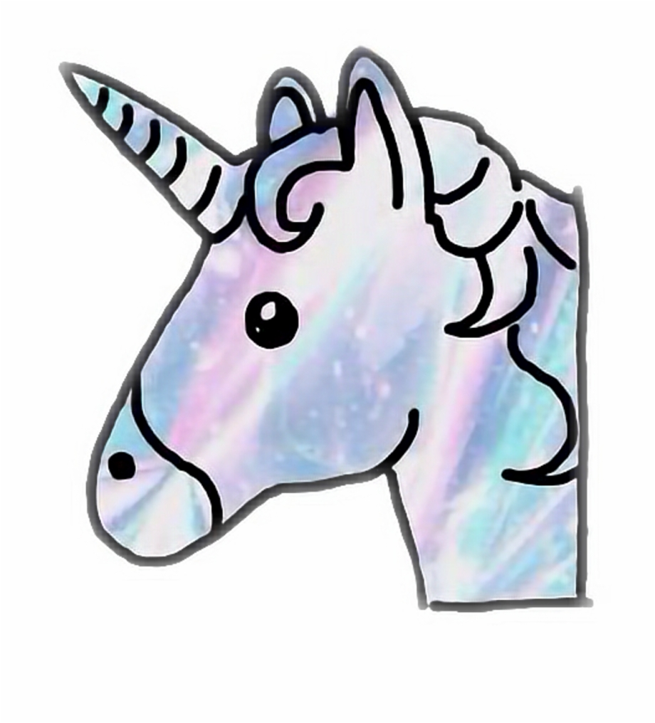 unicorn emoji clipart drawing