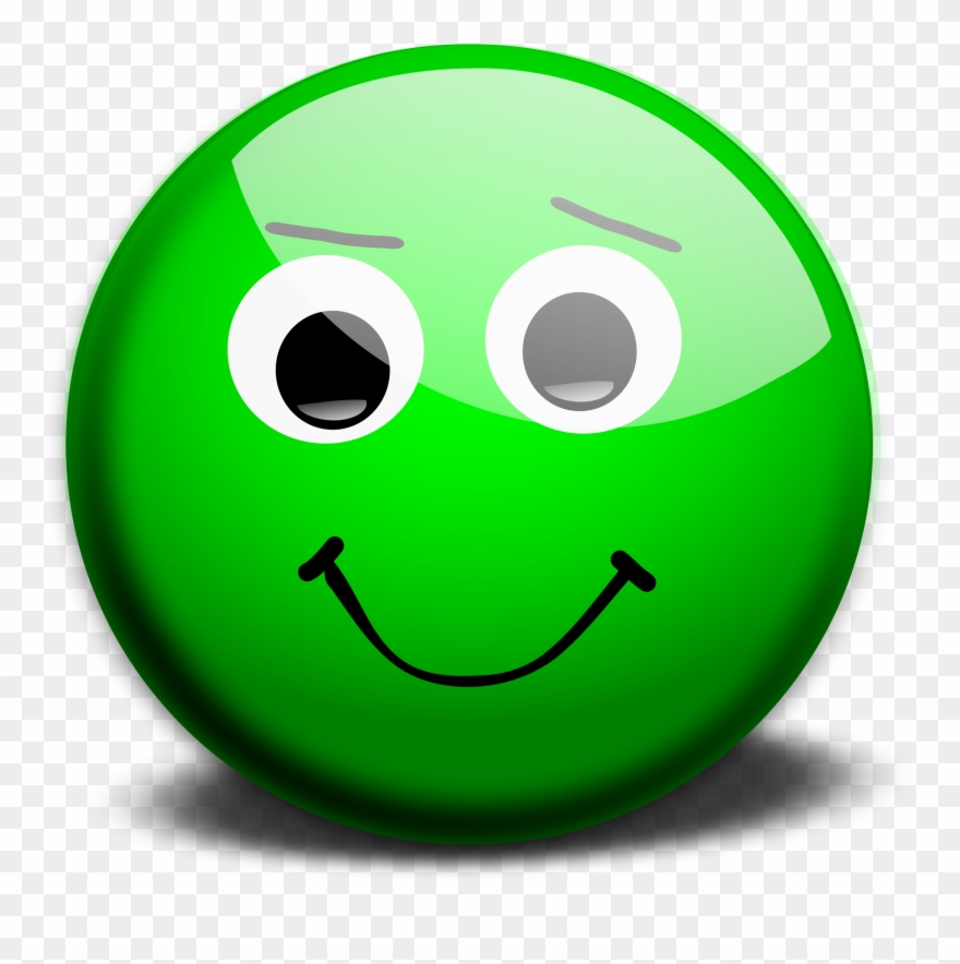 clipart smiley face green
