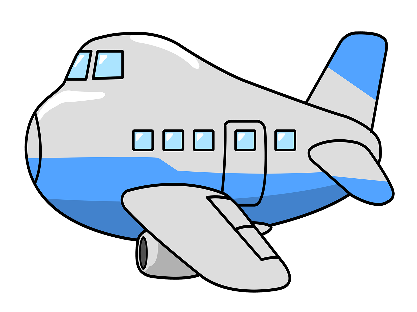 clipart airplane animated