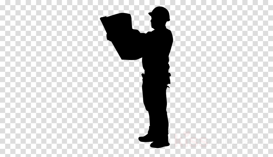 Engineer clipart silhouette.