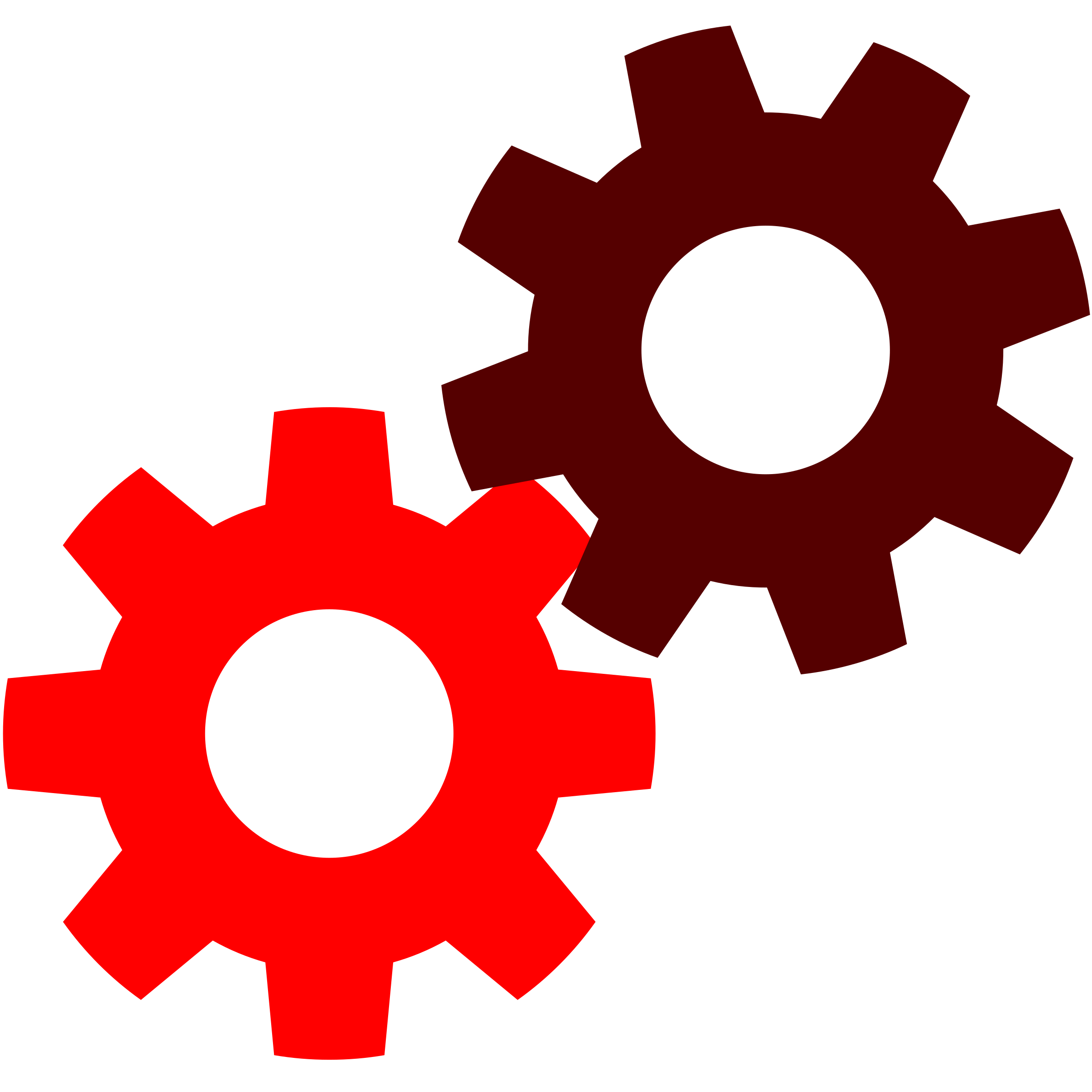 gears clipart red