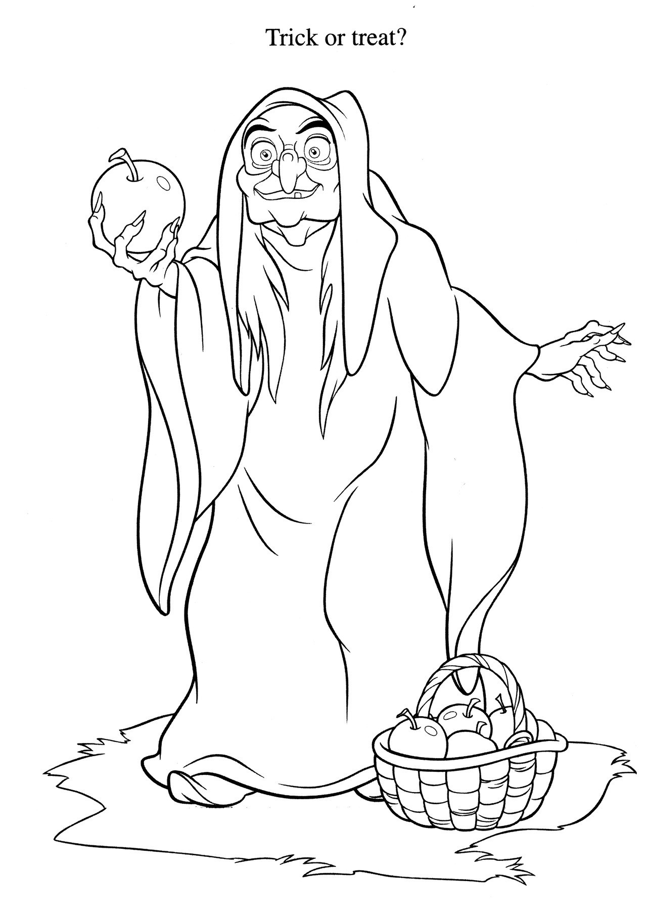 Evil cliparts coloring pages.