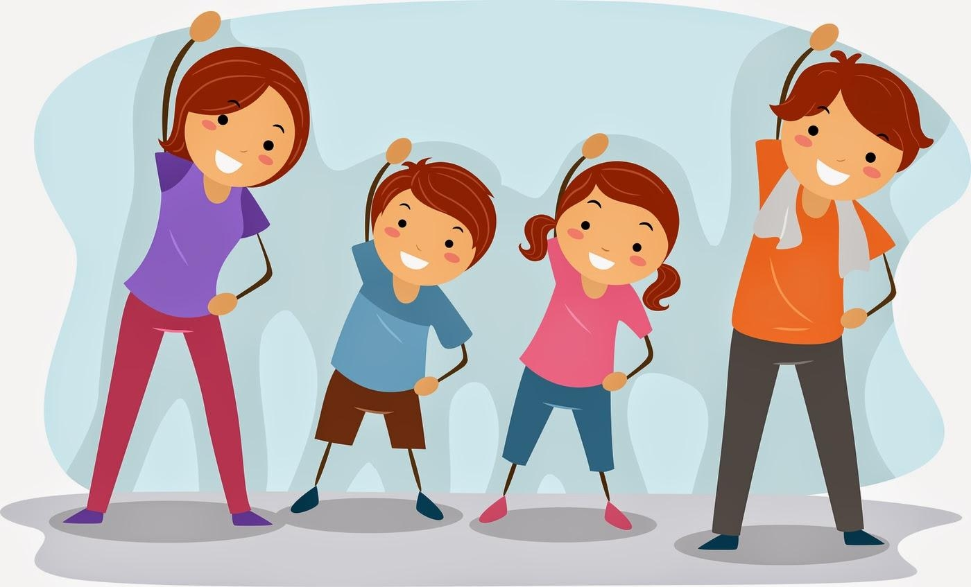 fitness clipart family