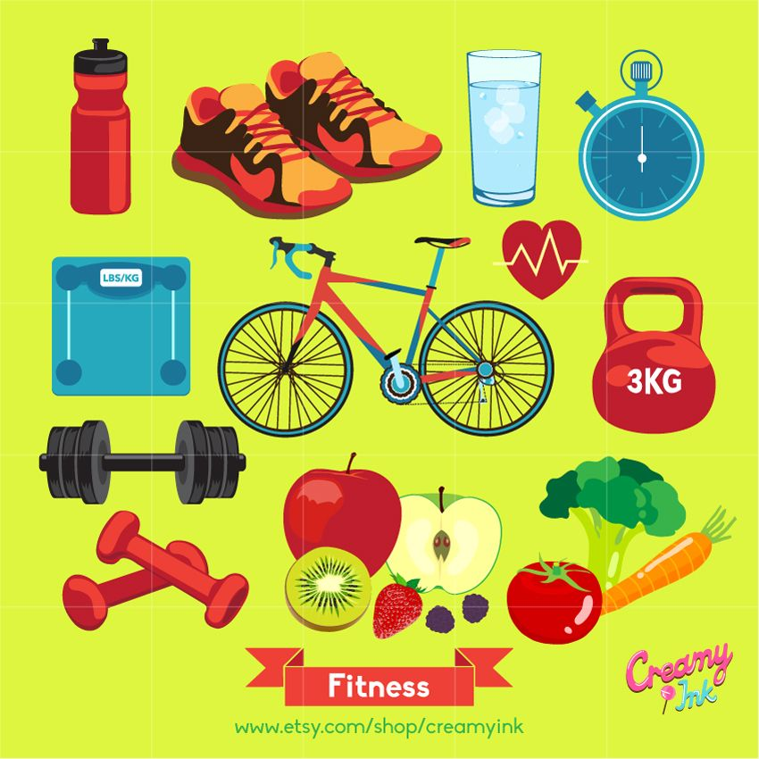 fitness clipart healthy lifestyle