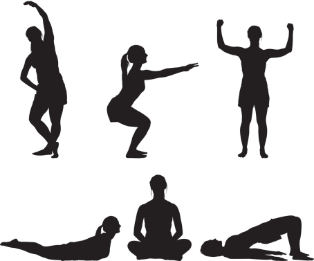fitness clipart silhouette
