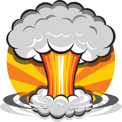 Explosion clipart nuclear fallout.