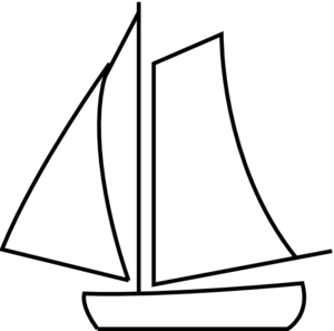 sailboat clipart outline