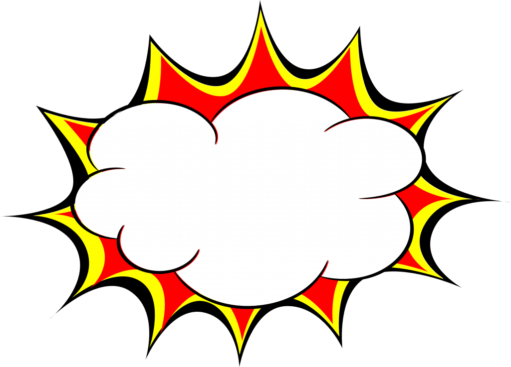 Explosion clipart comic book.