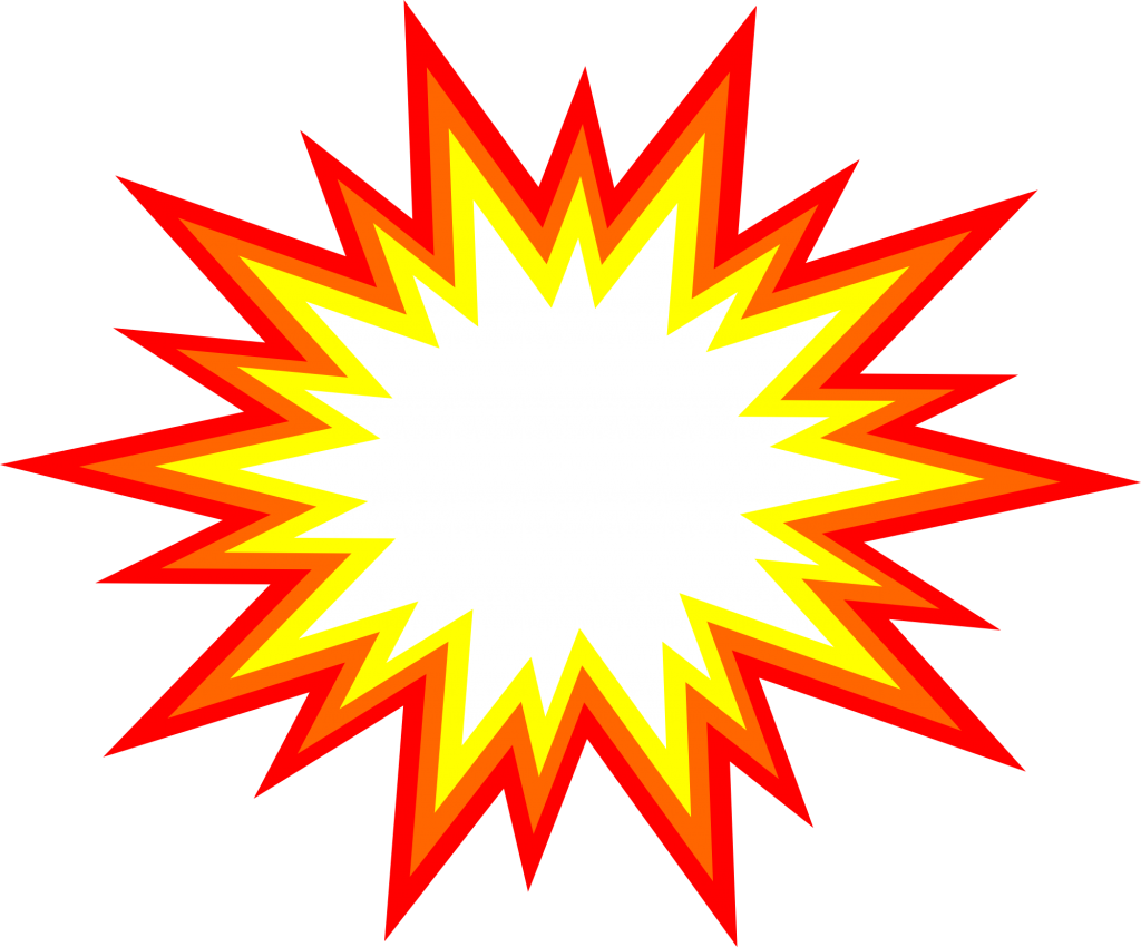 starburst clipart red