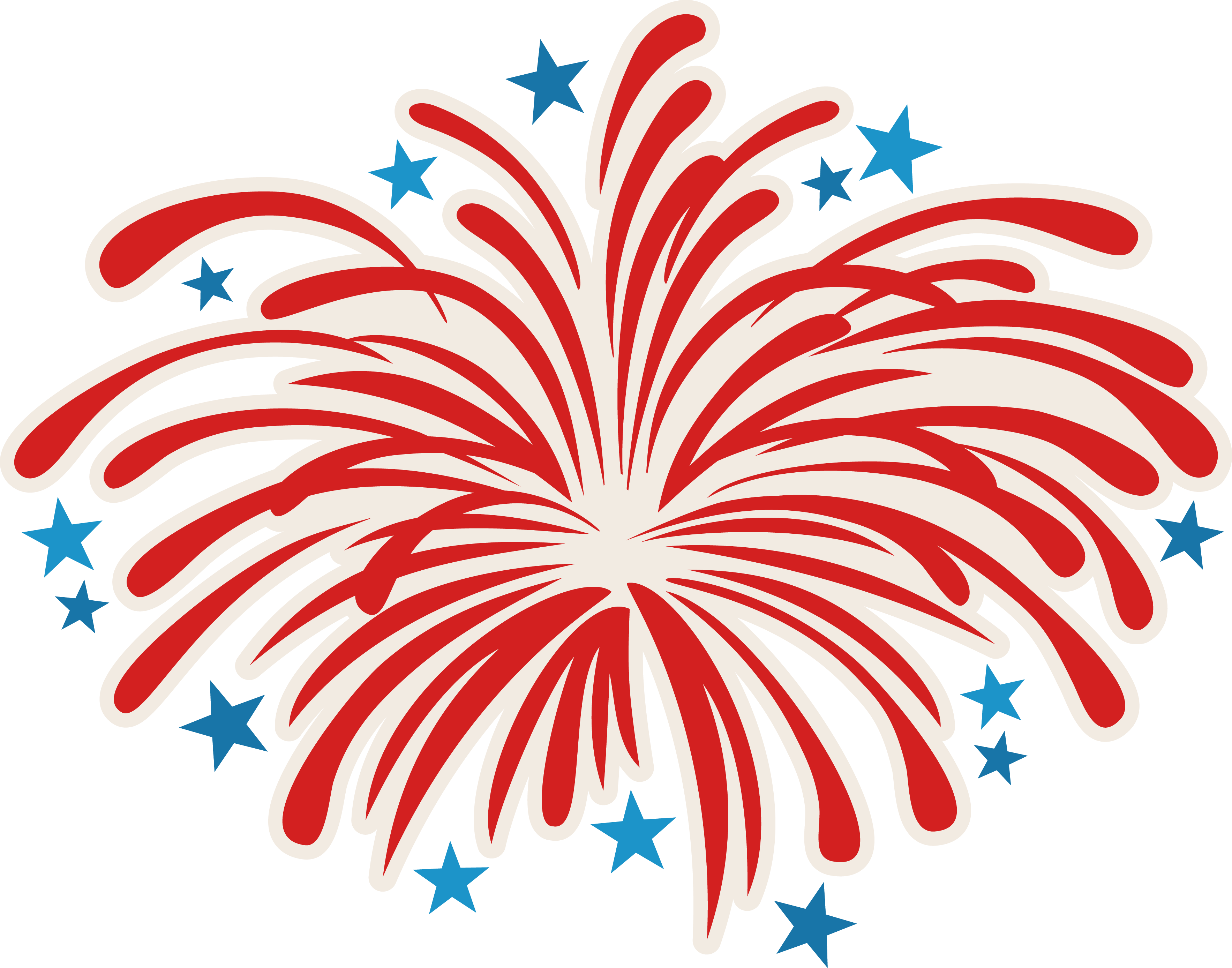 2018 clipart small firework.