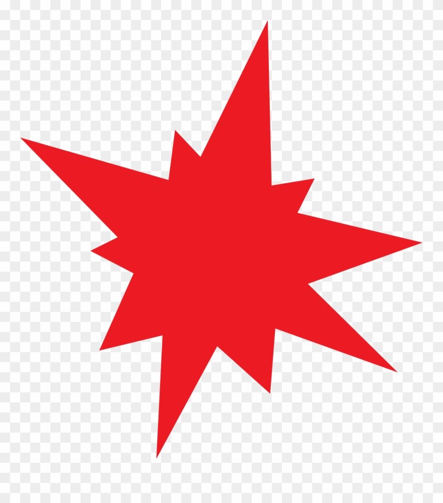 Explosion clipart red.