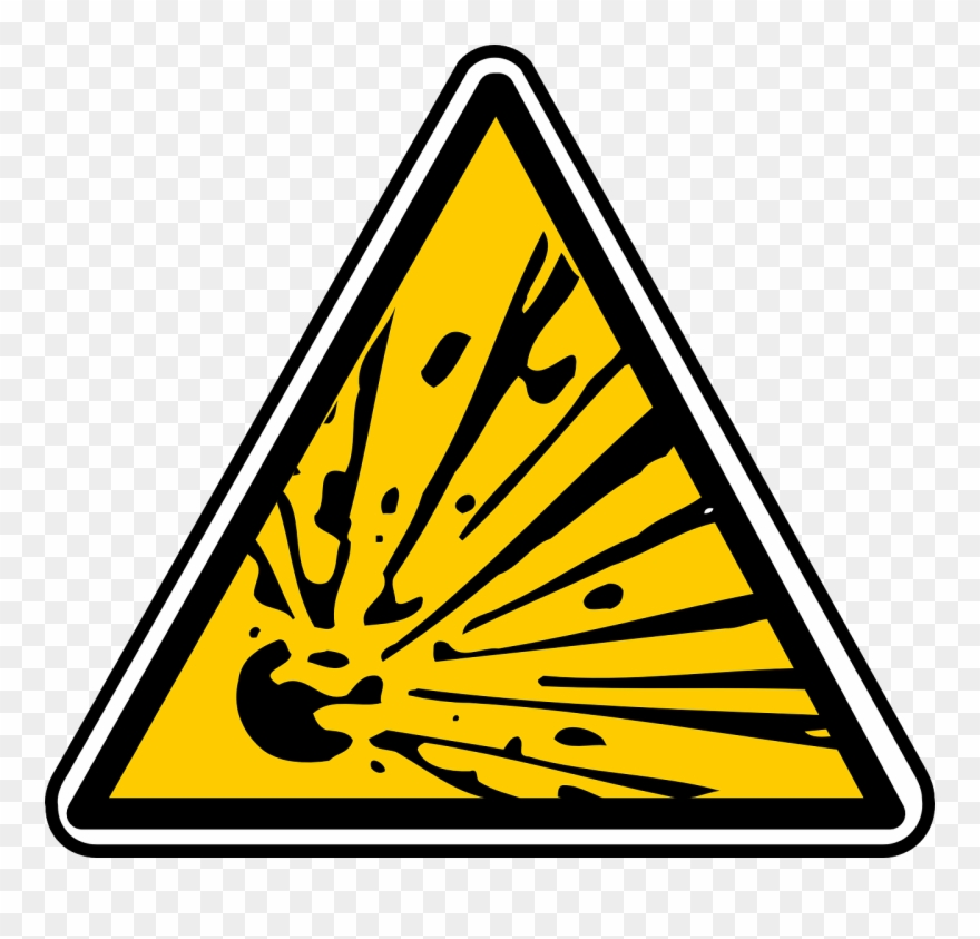 Explosion clipart sign.