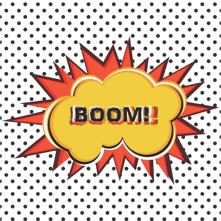 Explosion clipart yellow.