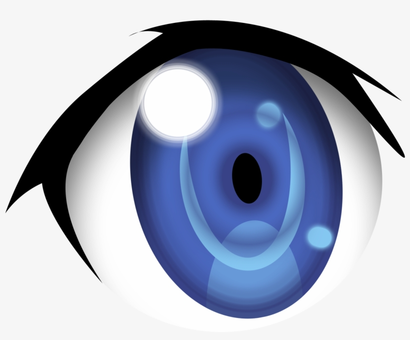 red glow clipart blue eye