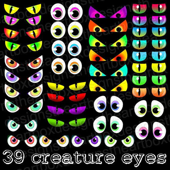 eye glow clipart spooky eyes