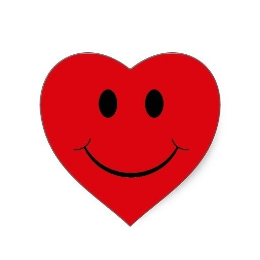 clipart smiley face heart