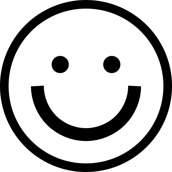 clipart smiley face white
