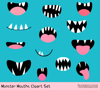 mouth clipart monster