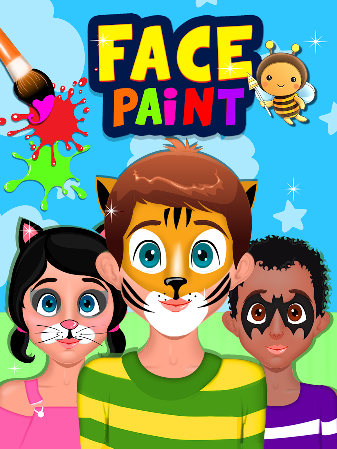face painting clipart vector