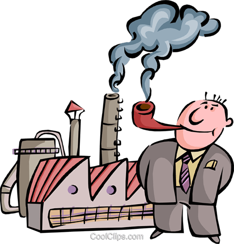 Factory clipart smoking.