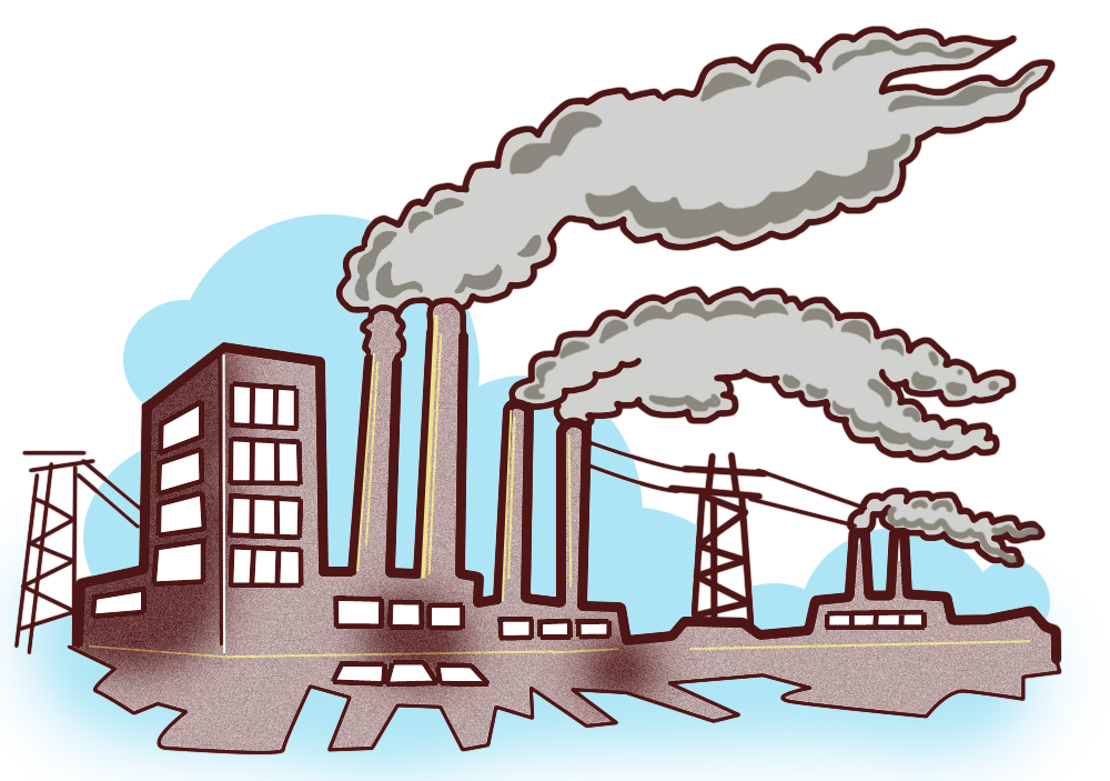 Factory clipart coal factory.