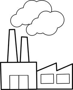 Factory clipart outline.