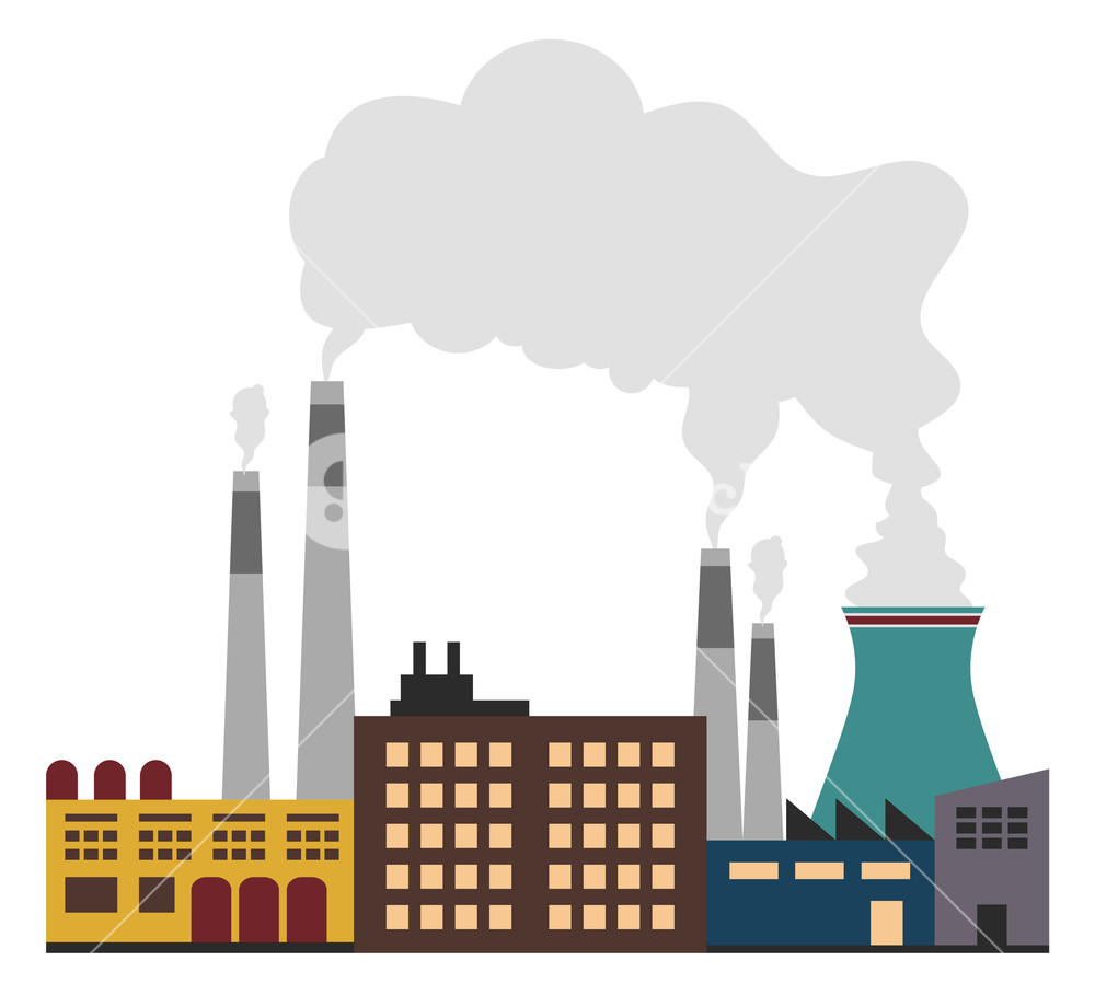 Factory clipart factory pollution.