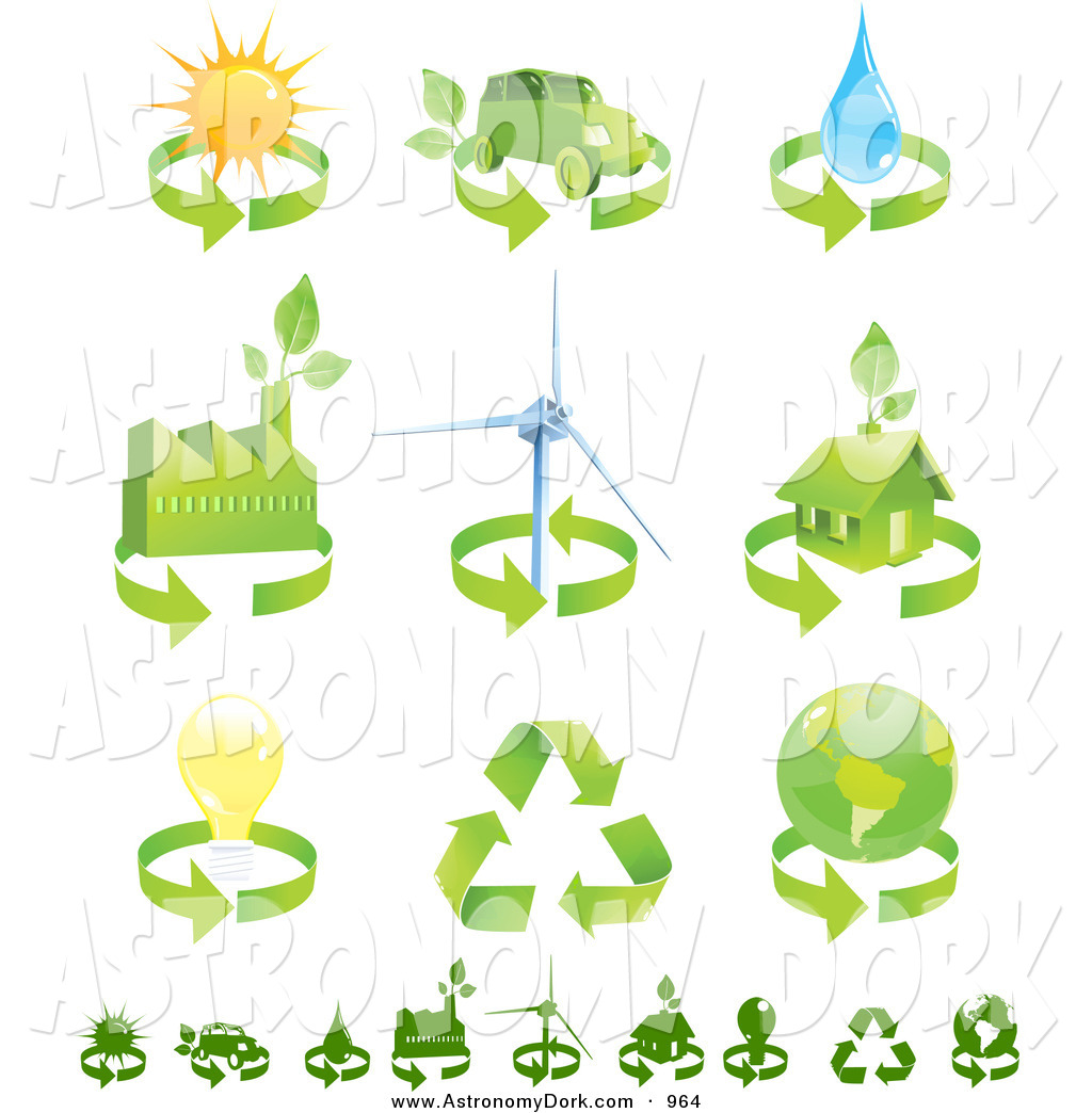 electricity clipart green